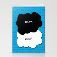 the fault Stationery Cards featuring the fault in our stars by lizbee