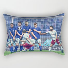 Free Kick Rectangular Pillow