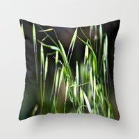 grass Throw Pillows featuring grass by  Agostino Lo Coco