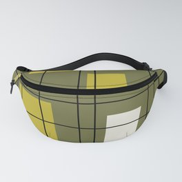 1950's Abstract Art Avocado Green Fanny Pack