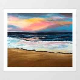 """OBX Sunset"" Beach Art Art Print"