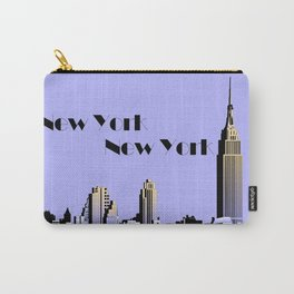 New York New York skyline retro 1930s style Carry-All Pouch
