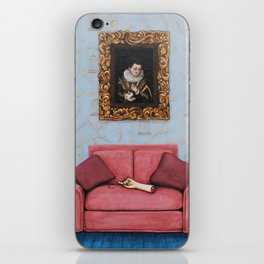 Portrait of a Stymied Lady and her Dog iPhone Skin