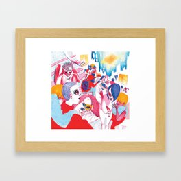 Existential crisis at your house party Framed Art Print