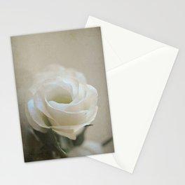 White Lisianthus Stationery Cards