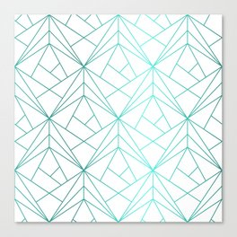 Geometric Turquoise Pattern Canvas Print