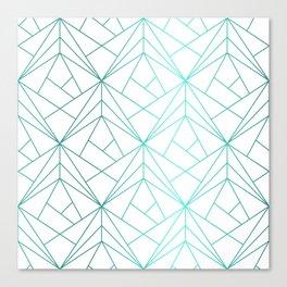 Geometric Turquoise Pattern Canvas Print