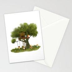 Tree Kids House Stationery Cards