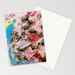 Sparrow Abstract Painting Stationery Cards