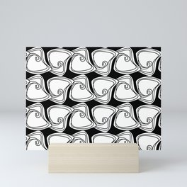 Black and White Swirls Mini Art Print
