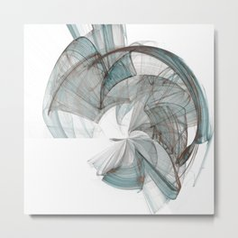 Original Abstract Duvet Covers by Mackin Metal Print