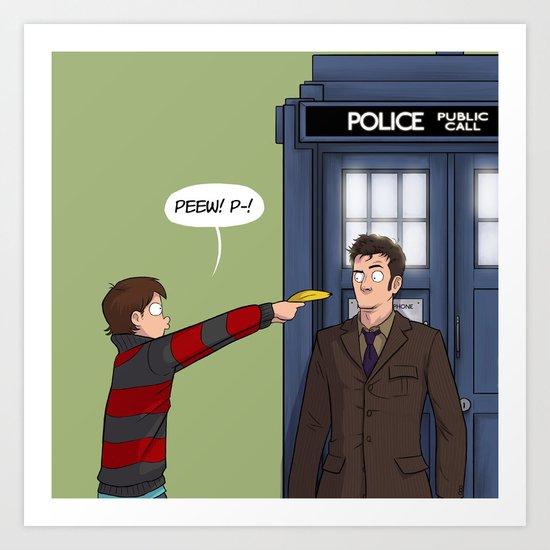Villengard Surprise - Doctor Who Art Print