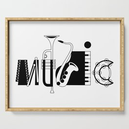 Music Serving Tray