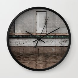 The Flood (urban texture and decay) Wall Clock