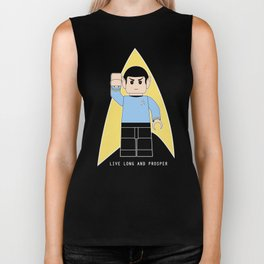 Live Long and Prosper  (Lego Spock - Star Trek) Biker Tank