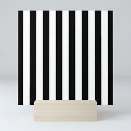 Parisian Black & White Stripes (vertical) Mini Art Print