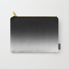 Black & White Ombre Gradient Carry-All Pouch