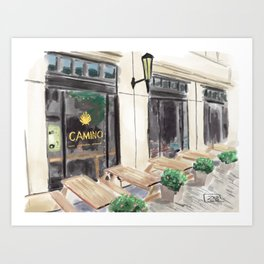 Camino, Winston-Salem, NC Art Print