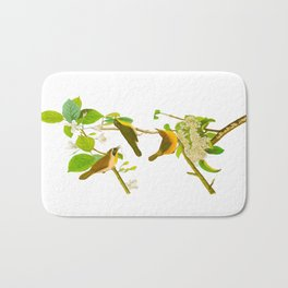 Yellow-breasted Warbler Bird Bath Mat