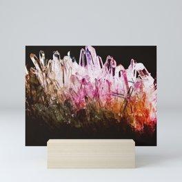 Rainbow quartz Mini Art Print