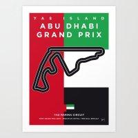 My F1 YAS MARINA Race Track Minimal Poster Art Print