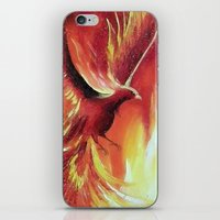 phoenix iPhone & iPod Skins featuring phoenix by OLHADARCHUK