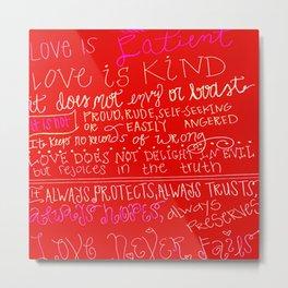 Love is Kind (red) Metal Print