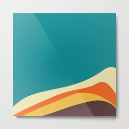 Flat abstract design backgrounds  Metal Print