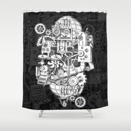 Hungry Gears Shower Curtain