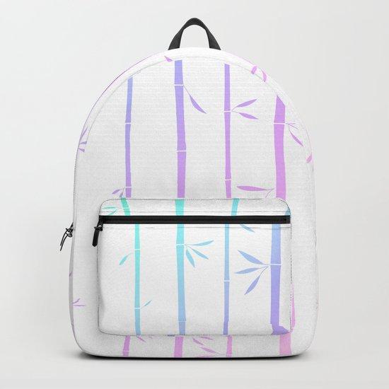 Tropical woody rainbow bamboos Backpack