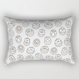 HEDGEHOG PATTERN BEIGE Rectangular Pillow