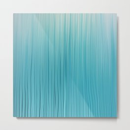Abstract Modern Teal Ivory Gradient Brushstrokes Metal Print