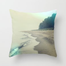 It was a foggy morning Throw Pillow