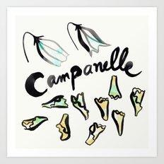Campanelle | 100 Days of Cookbook Spots Art Print