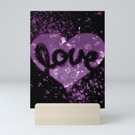 Love Heart - Purple Mini Art Print