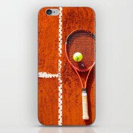 Tennis Court Background iPhone Skin