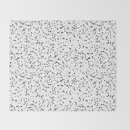 Speckles I: Double Black on White Throw Blanket