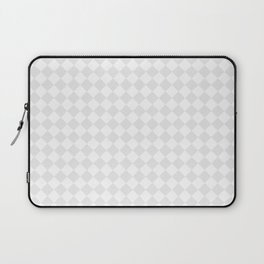 Small Diamonds - White and Pale Gray Laptop Sleeve
