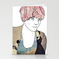 introvert Stationery Cards featuring introvert girl by Katharina Nachher