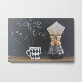 Coffee Time! Photo of coffee and mug Metal Print