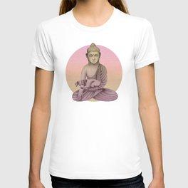 Buddha with dog6 T-shirt