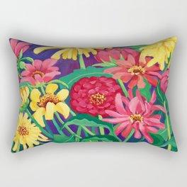 Zinnias Rectangular Pillow