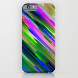 Colorful digital art splashing G487 iPhone Case