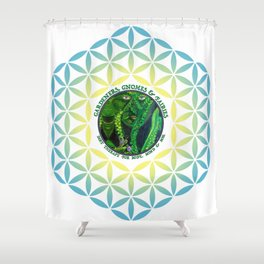 Pastel Petals Garden Gnome Fairy Flower of Life Shower Curtain