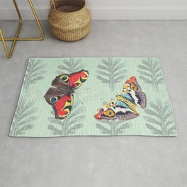Summer's sojourn with butterflies Rug