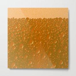 Orange Shade Bibble Background Metal Print