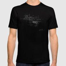 Fallingwater -  Frank Lloyd Wright X-LARGE Black Mens Fitted Tee