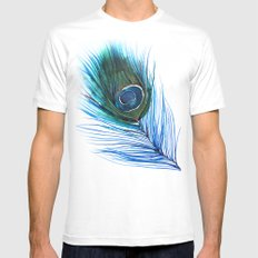 Peacock Feather I Mens Fitted Tee White MEDIUM