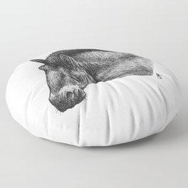 Przewalski's Horse Floor Pillow