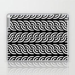 Black and white braided illusive circles Laptop & iPad Skin